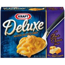 Kraft Macaroni & Cheese Dinner Deluxe Four Cheese, 14 OZ (397g) Box