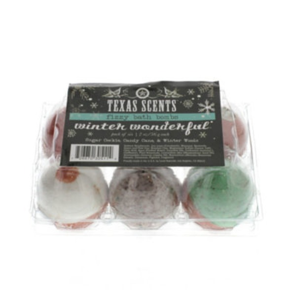 Level Naturals Texas Scents Fizzy Bath Bombs, Winter Wonderful