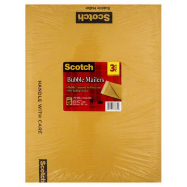 Scotch Bubble Mailers Size 5 10.5 In X 15 In