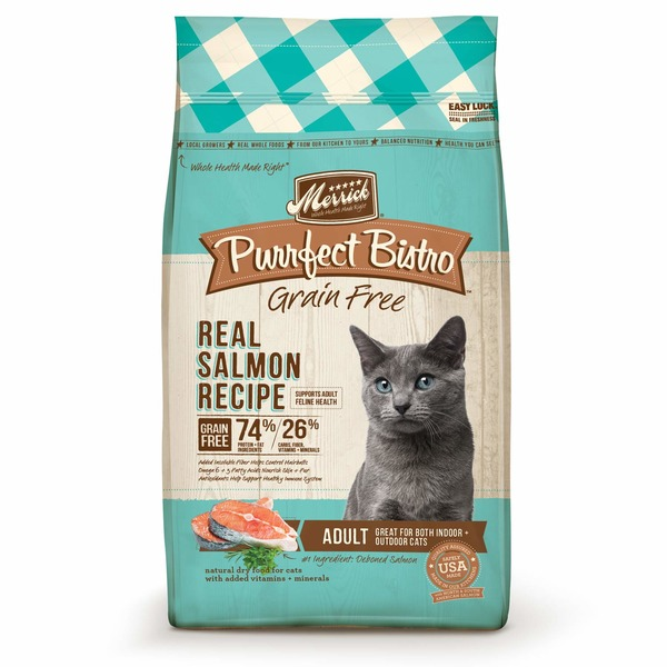 Merrick Purrfect Bistro Grain Free Healthy Salmon Adult Cat Food 7 Lbs.