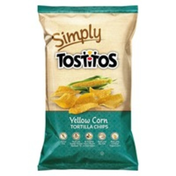Simply Tostitos Natural Yellow Corn Tortilla Chips, Restaurant Style