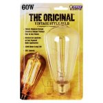 Feit Electric BP60ST19 Dimmable Vintage Incandescent Lamp, 60 W, 120 V, Straight-Tubular