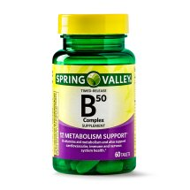 Spring Valley Vitamin B50 Complex Timed Release Tablets, 60 Ct