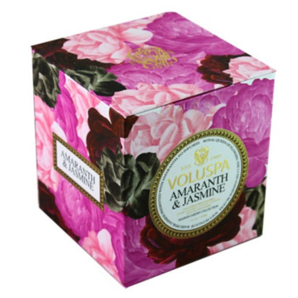 Voluspa Maison Jardin Collection, Classic Maison Candle, Amaranth and Jasmine