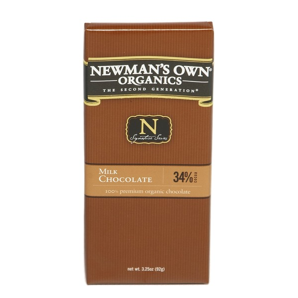 Newman's Own 3.25oz Milk Chocolate Bar