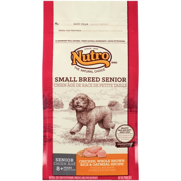 Nutro Small Breed Senior Chicken Whole Brown Rice & Oatmeal Recipe Dog Food