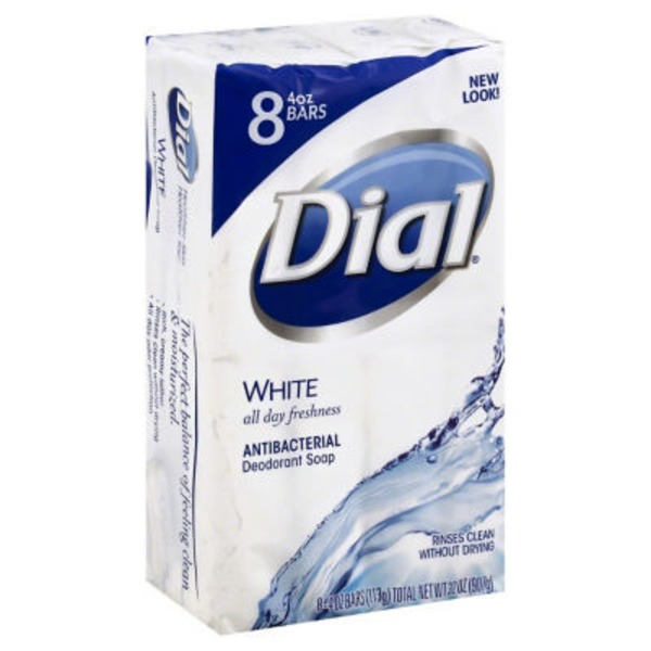 Dial Bar White Antibacterial Deodorant Soap