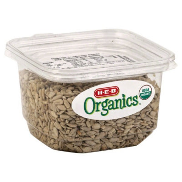 H-E-B Organics Dry Roasted And Salted Sunflower Seeds