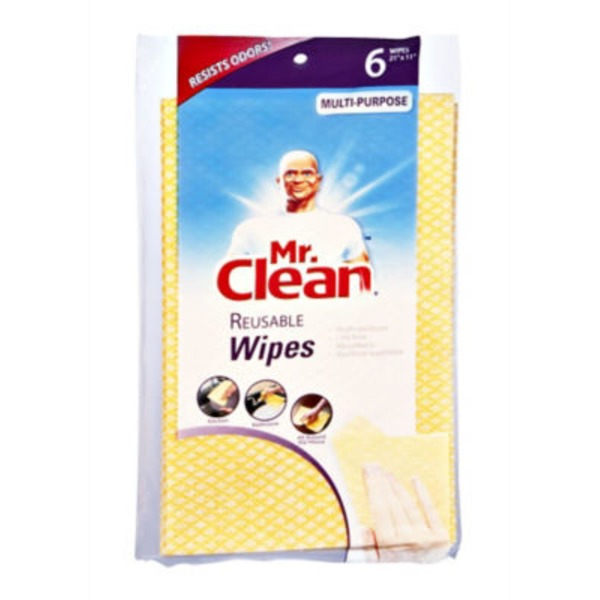 Mr. Clean Multi-Purpose Reusable Wipes - 6 CT