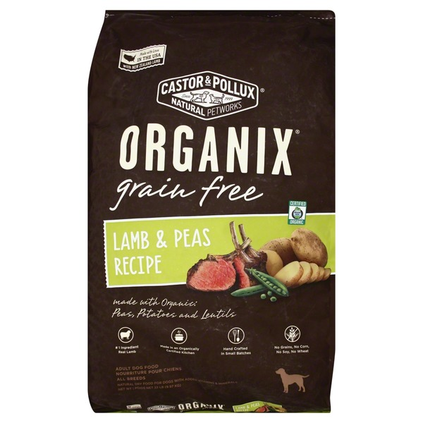 Organix Dog Food, Grain Free, Lamb & Peas Recipe, Adult