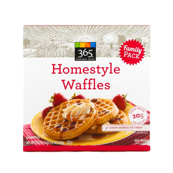365 Homestyle Waffles Family Pack