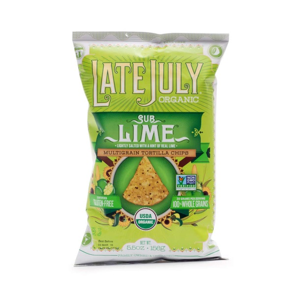 Late July Organic Multigrain Tortilla Chips Sub Lime