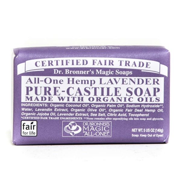 Dr. Bronner's Magic Soaps All-One Hemp Lavender Pure-Castile Bar Soap