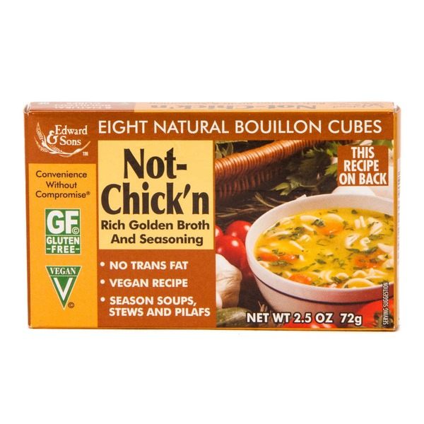 Edward & Sons Gluten Free Vegan Not-Chick'n Natural Bouillon Cubes