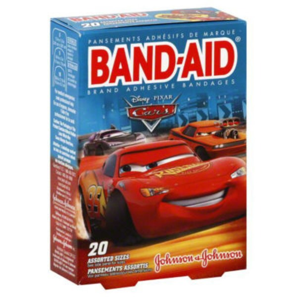 Band Aid® Brand Adhesive Bandages Cars Decorated