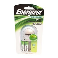 Energizer Recharge Basic Charger for AA/AAA Batteries (2 AA Batteries Included)