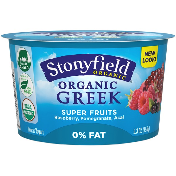 Stonyfield Organic Organic Superfruits Raspberry, Pomegranate, Acai Nonfat Greek Yogurt