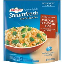 Birds Eye Steamfresh Chef's Favorites Chicken Flavored Rice with Broccoli, Carrots & Onions, 10 oz