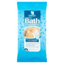 Comfort Bath Cleansing Washcloths - Ultra Thick Disposable 8' X 8' Premoistened Washcloths 8 ct per pack