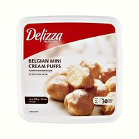 Delizza Patisserie Belgian Mini Cream Puffs- 30 CT