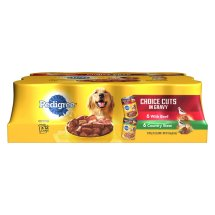 Pedigree Choice Cuts in Gravy Combo Pack Beef & Country Stew Wet Dog Food, 13.2 Oz (Case of 12)