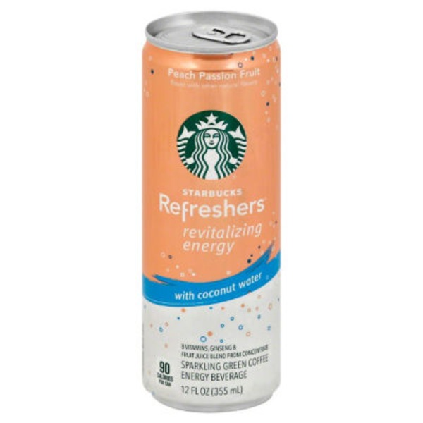 Starbucks Refreshers Revitalizing Energy Peach Passion Fruit Energy Drink