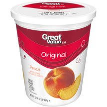 Great Value Original Peach Lowfat Yogurt