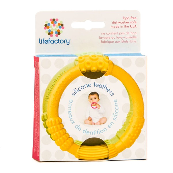 Lifefactory Teether Yellow Spring Green