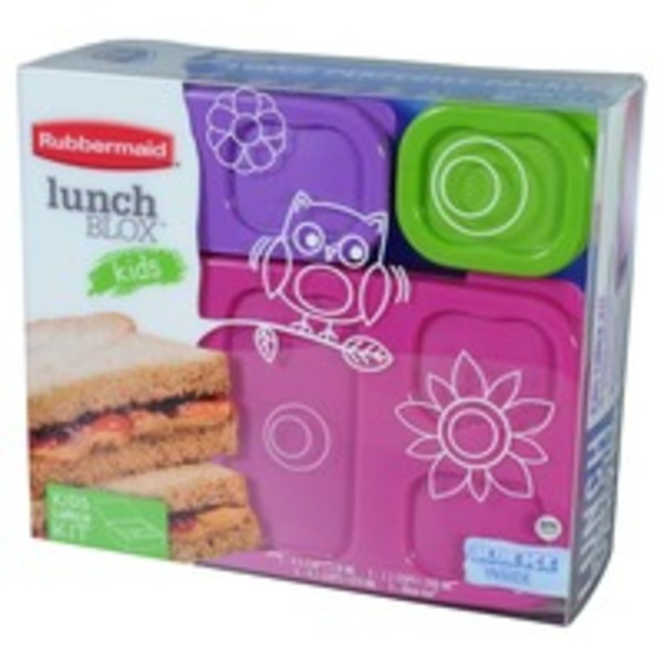Rubbermaid Lunchblox Pink Flat