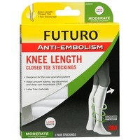 Futuro Anti Embolism Knee Length Closed Toe Stocking Large