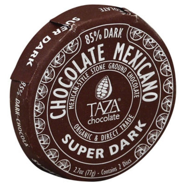 Taza Mexican-Style Stone Ground Super Dark Dark Chocolate