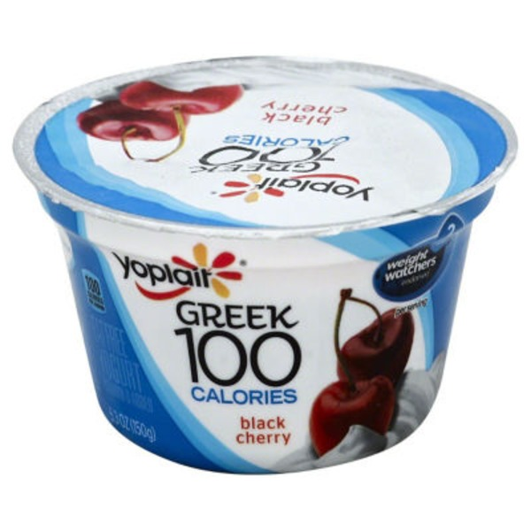 Yoplait Greek 100 Calories Black Cherry Fat Free Yogurt