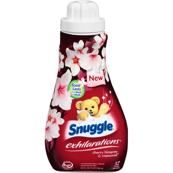 Snuggle Exhilarations Cherry Blossom & Rosewood Liquid Fabric Softener