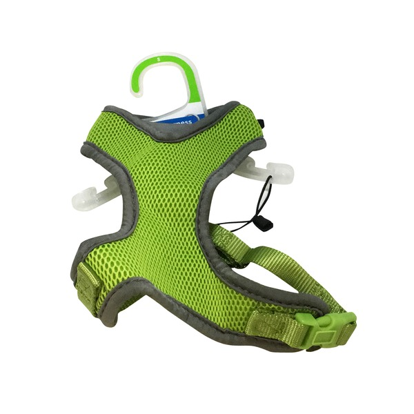 Petco Adjustable Mesh Harness For Dogs In Green & Gray