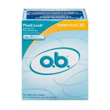 O.B. Super Plus Fluid-Lock Tampons, 40 count