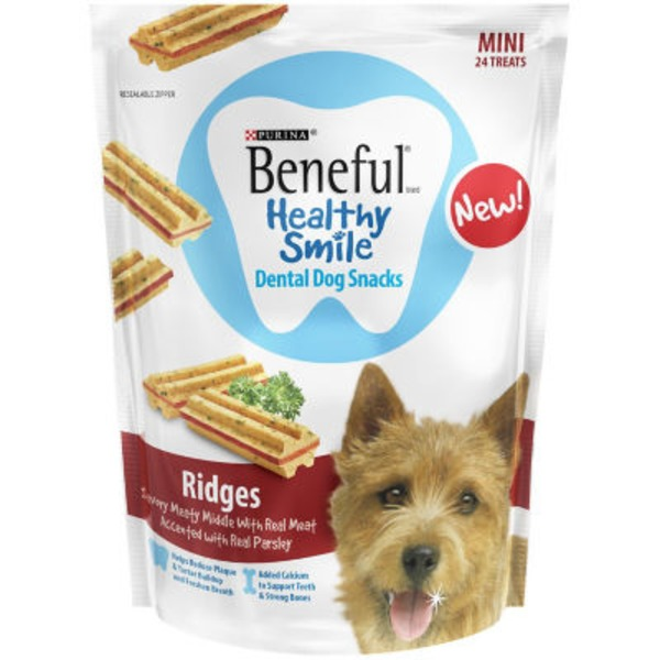 Beneful Treats Healthy Smile Ridges Mini Dental Dog Snacks