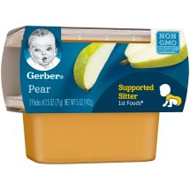 Gerber 1st Foods Pears Baby Food, 2.5 oz Tubs, 2 Count