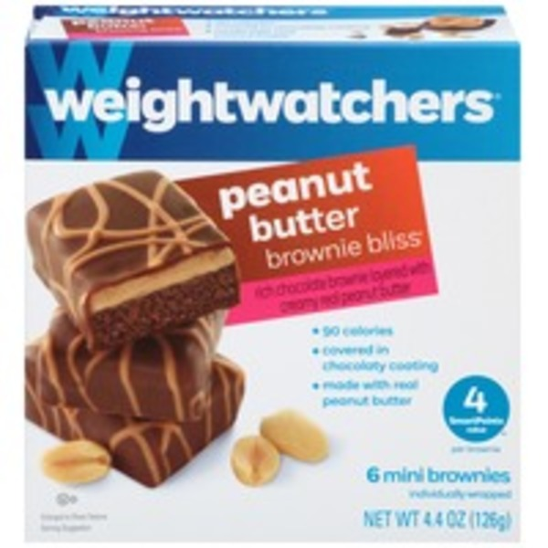 Weight Watchers Sweet Baked Goods Peanut Butter Brownie Bliss Mini Brownies