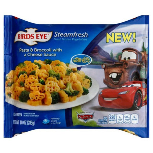 Steamfresh Disney Pixar Cars Pasta & Broccoli with a Cheese Sauce Frozen Entree