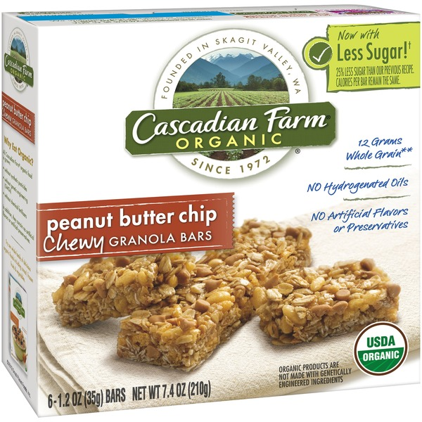 Cascadian Farm Organic Chewy Peanut Butter Chip Granola Bars