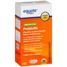 Equate Probiotic Digestive System Support Capsules, 28 Ct