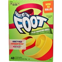 Betty Crocker Fruit by the Foot Strawberry Splash/Berry Blast Variety Pack Fruit Flavored Snacks