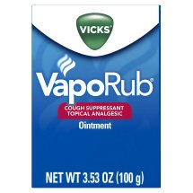 Vicks VapoRub Cough Suppressant Topical Analgesic Ointment, 3.53 Oz