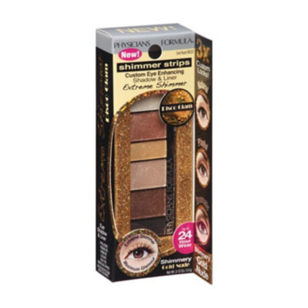 Shimmer Strips 6632 Extreme Shimmer Gold Nude Eye Shadow & Liner