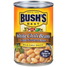 Bush's Best Great Northern Chili Beans in Mild Chili Sauce