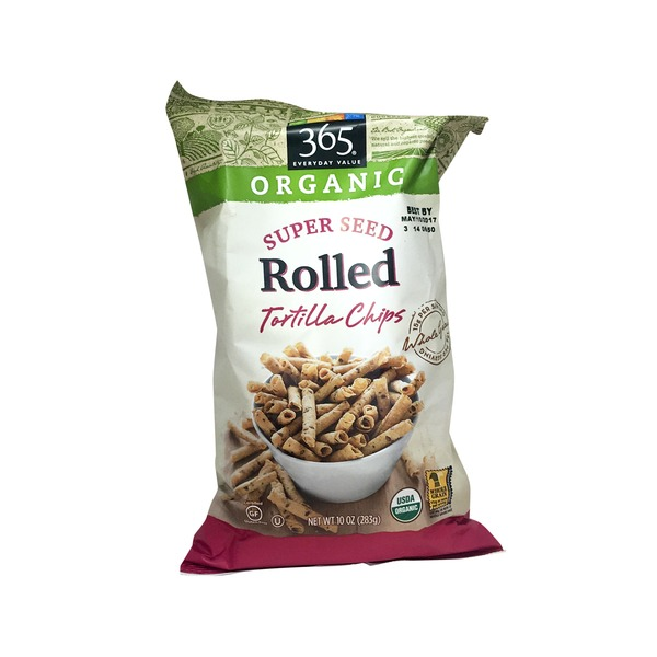 365 Organic Lightly Salted Rolled Seedy Tortilla Chips