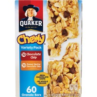 Quaker Chewy Chocolate Chip/Peanut Butter Chocolate Chip Variety Pack Granola Bars