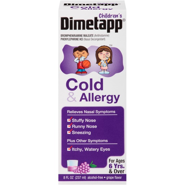 Dimetapp Children's Grape Liquid Antihistimine/Nasal Decongestant