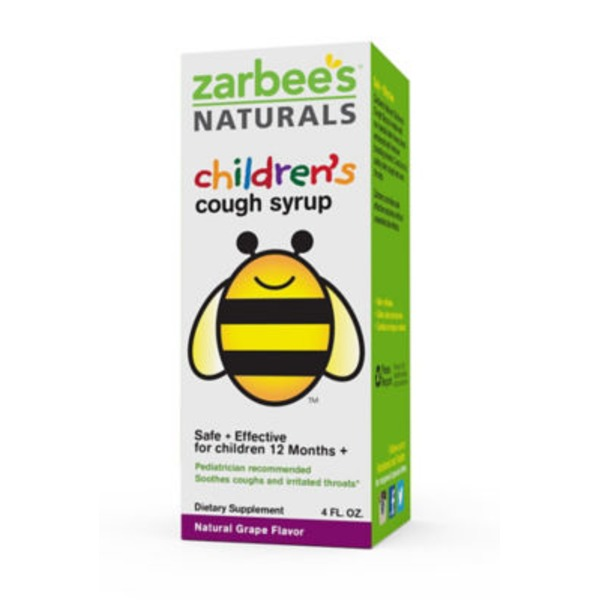 Zarbee's Naturals Children's Cough Syrup with Dark Honey Grape, Natural Grape Flavor Dietary Supplement
