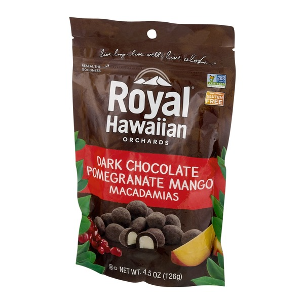 Royal Hawaiian Orchards Dark Chocolate Pomegranate Mango Macadamias